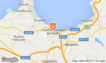 Map Castellammare del Golfo Apartment 70426