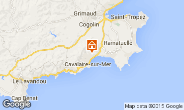 Map Cavalaire-sur-Mer Apartment 83249