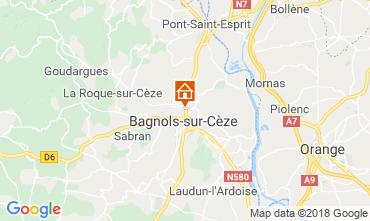 Map Bagnols sur Cèze Vacation rental 116366