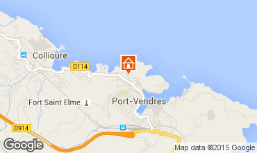 Map Collioure Apartment 49274