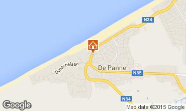 Map De Panne Apartment 102184