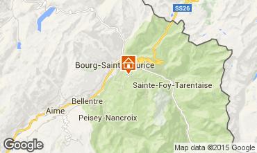 Map Les Arcs Apartment 324