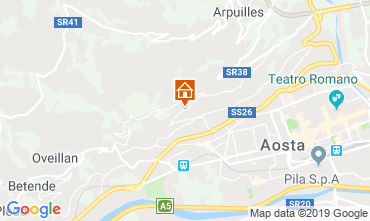 Map Aosta Apartment 75618