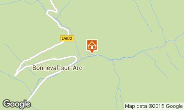 Map Bonneval sur Arc Apartment 83229