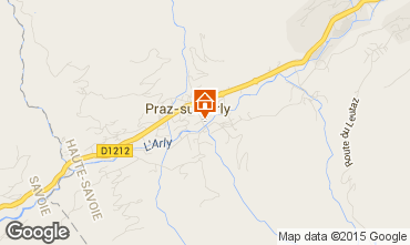 Map Praz sur Arly Apartment 95007