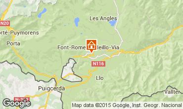 Map Font Romeu Apartment 67500
