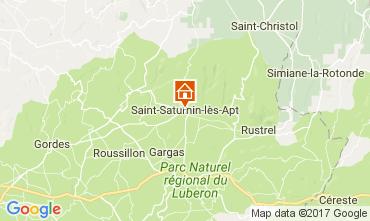 Map Saint Saturnin les Apt Vacation rental 103937