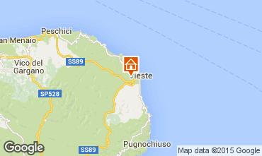 Map Vieste Apartment 15595