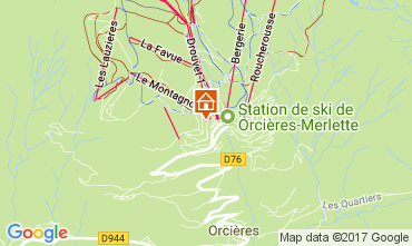 Map Orcières Merlette Apartment 2078