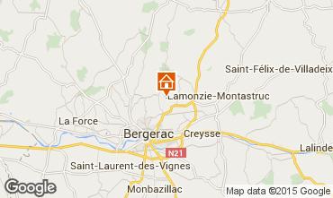 Map Bergerac Vacation rental 81835