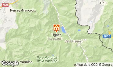 Map Tignes Apartment 49052