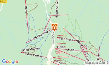 Map Les 2 Alpes Apartment 1260