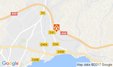 Map La Ciotat Villa 109325