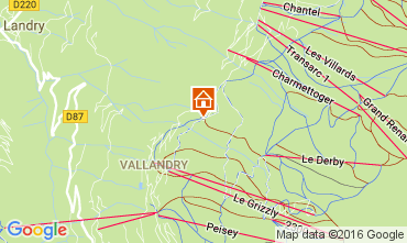 Map Peisey-Vallandry Apartment 106831