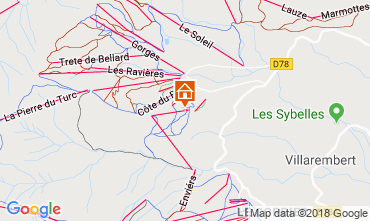 Map La Toussuire Apartment 116507