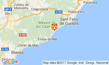 Map Lloret de Mar Apartment 50869