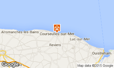 Map Courseulles-sur-Mer Apartment 99204
