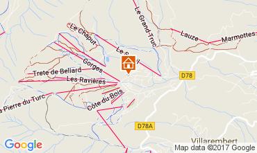 Map La Toussuire Apartment 107180