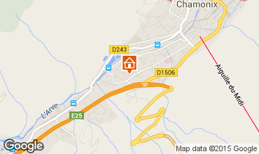 Map Chamonix Mont-Blanc Apartment 32184