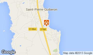 Map Saint Pierre Quiberon Villa 81399