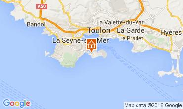 Map Saint Mandrier sur Mer One-room apartment 84869