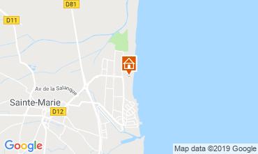 Map Sainte Marie la Mer Apartment 117607