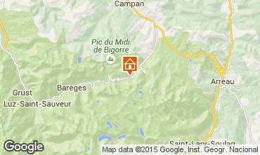 Map La Mongie Apartment 4282