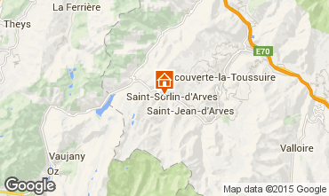 Map Saint Sorlin d'Arves One-room apartment 2690