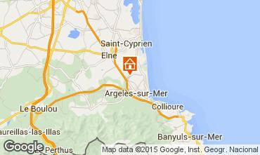 Map Argeles sur Mer Mobile home 9805