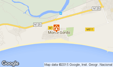Map Monte Gordo Apartment 94342