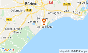 Map Valras-Plage Apartment 93432