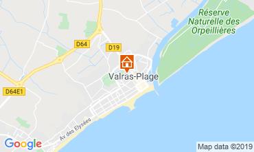 Map Valras-Plage Apartment 93432