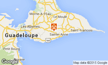 Map Sainte Anne (Guadeloupe) Vacation rental 60117