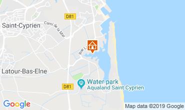 Map Saint Cyprien Plage One-room apartment 117711