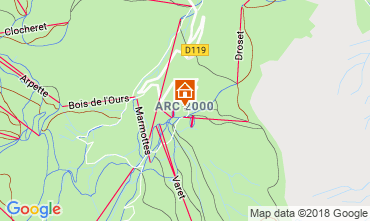 Map Les Arcs Apartment 173
