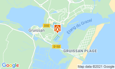 Map Gruissan One-room apartment 6289