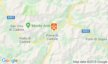 Map Cortina d'Ampezzo Apartment 26458