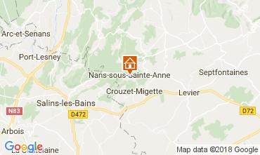 Map Salins les Bains Vacation rental 113029