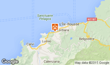 Map Location Ile Rousse Apartment 87256
