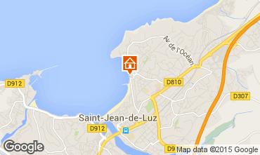 Map Saint Jean de Luz One-room apartment 20172