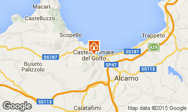 Map Castellammare del Golfo Apartment 69495
