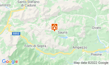 Map Forni di Sopra Chalet 71068