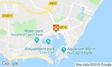 Map Cap d'Agde One-room apartment 117600