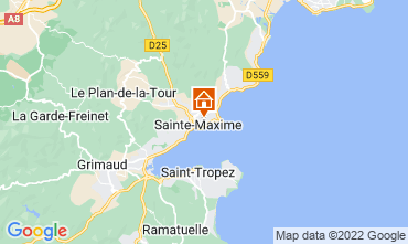 Map Sainte Maxime Villa 15881