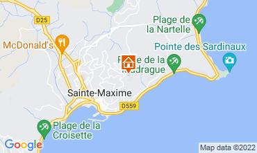 Map Sainte Maxime Villa 15881