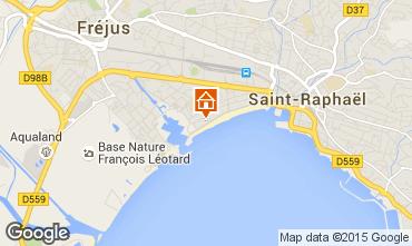 Map Fréjus Apartment 21982