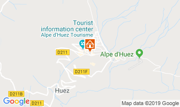 Map Alpe d'Huez One-room apartment 112804