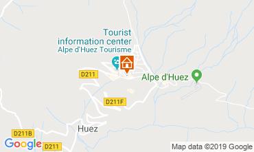 Map Alpe d'Huez One-room apartment 112804