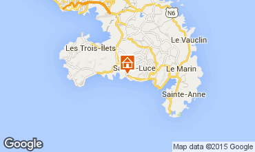 Map Sainte Luce One-room apartment 69054