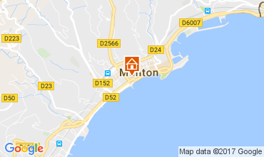 Map Menton Apartment 107752